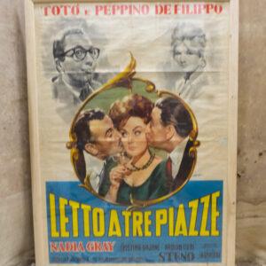 Manifesto Toto' letto a tre piazze